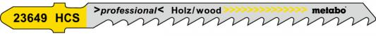 Лобзиковая пилка Metabo T244D 75х4мм HCS 5шт 623649000