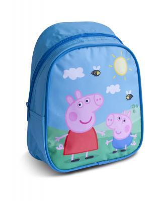 Рюкзак водонепроницаемый РОСМЭН Свинка Пеппа 32039 голубой рюкзак peppa pig свинка пеппа водонепроницаемый голубой рисунок 29314