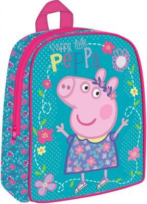 Дошкольный рюкзак РОСМЭН Peppa Pig Умница 32045 голубой рюкзак peppa pig свинка пеппа водонепроницаемый голубой рисунок 29314