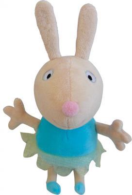 """Мягкая игрушка кролик РОСМЭН Peppa Pig - """"Ребекка-балерина"""" текстиль белый 20 см"""