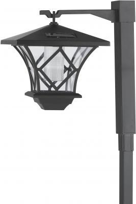 Садовый светильник ЭРА SL-PL155-PST на солнечной батарее черный