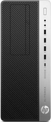 Системный блок HP EliteDesk 800 G3 i5-6500 3.2GHz 8Gb 256Gb SSD HD530 DVD-RW Win7Pro Win10Pro клавиатура мышь серебристо-черный 1KL71AW