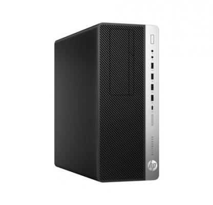 Системный блок HP EliteDesk 800 G3 i5-7500 3.4GHz 8Gb 500Gb HD630 DVD-RW Win10Pro клавиатура мышь серебристо-черный 1FU44AW