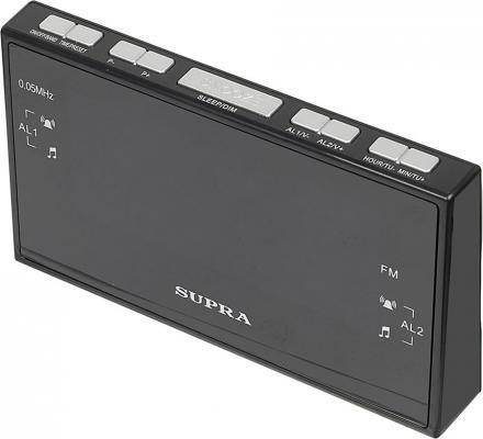 Часы с радиоприёмником Supra SA-43FM чёрный