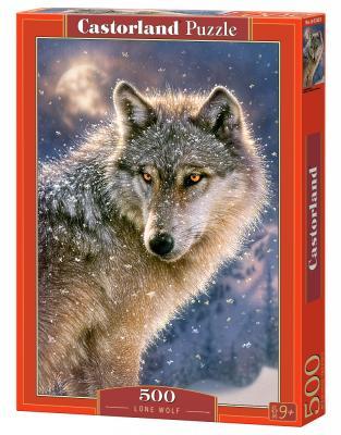 Пазл 500 элементов Кастор Одинокий волк B-52431 пазл 55 элементов кастор времена года