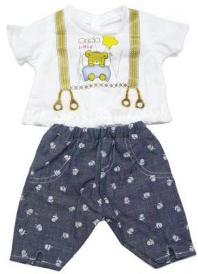 Одежда для кукол Mary Poppins Mary Poppins белая кофточка и серые штанишки с узором 452060 кофта томилочка мода тм кофточка