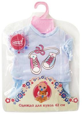 Одежда для куклы Mary Poppins 38-43см, футболка и шортики 452061 mary poppins одежда для куклы 42 см боди mary poppins