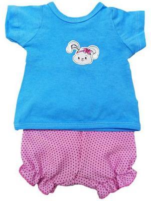 Одежда для куклы Mary Poppins 38-43см, футболка и шорты Зайка 201 mary poppins одежда для куклы mary poppins зайка костюм с жилеткой 38 45 см