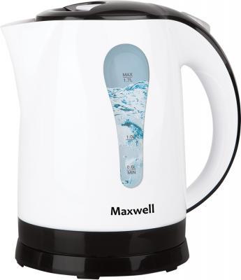 Чайник Maxwell MW-1079 W 2200 Вт белый 1.7 л пластик чайник maxwell mw 1028 g 2200 вт зелёный белый 1 7 л пластик