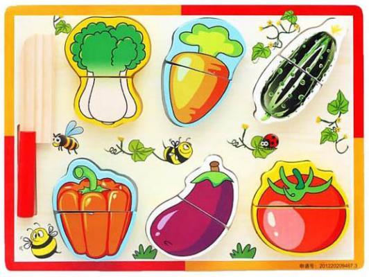 """Набор для резки Shantou Gepai """"Овощная грядка"""" с ножом 635233"""