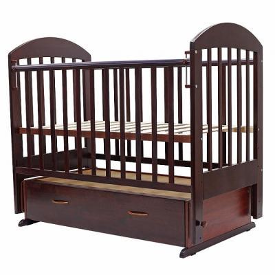 Купить Кроватка с маятником Топотушки Дарина-6 (арт. 03/вишня), береза, Кроватки с маятником