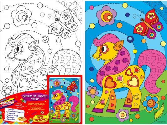 Набор для росписи по холсту Креатто Пони от 3 лет 30171
