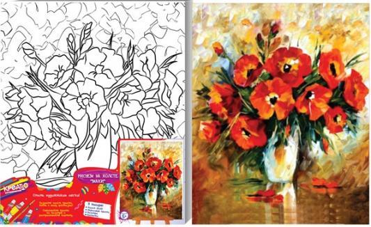 Набор для росписи по холсту Креатто Маки от 7 лет 21593 набор для росписи по холсту креатто такса от 3 лет 30170
