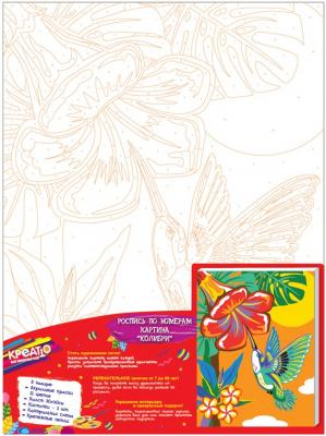 Набор для росписи по холсту Креатто Колибри от 3 лет 30897 умка аппликация по номерам колибри winx