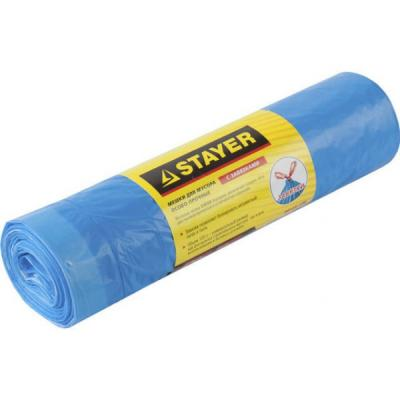 Пакеты для мусора Stayer Comfort завязками 30л 20шт голубой 39155-30 пакеты для мусора stayer comfort завязками 30л 20шт голубой 39155 30