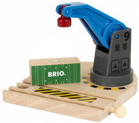 Игровой набор Brio вращающийся подъемный кран на магните с грузом,2 эл.,13х11х13см,кор.