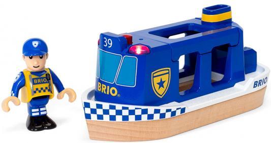 """Игровой набор Brio Полицейский катер"""",2 эл.,свет,звук,19х7х10см,кор."""