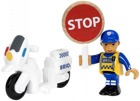 Игровой набор Brio Полицейский мотоцикл,3 эл.,15х4х13см,кор. железная дорога brio полицейский транспорт 19 эл 37х9х19см кор