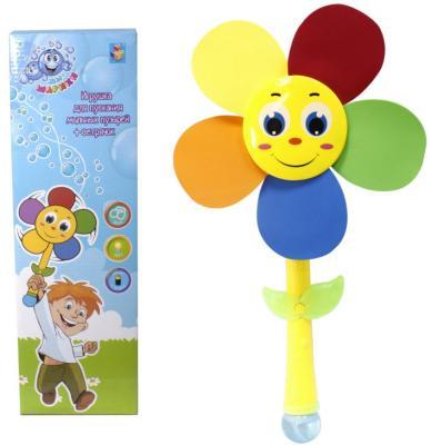 Мыльные пузыри 1Toy Мы-шарики 2-в-1 150 мл разноцветный