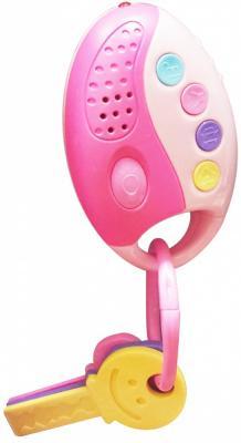 Интерактивная игрушка 1Toy Автоключики от 1 года розовый свет, звук, обучающая книга азбукварик секреты маленькой принцессы 9785402000568