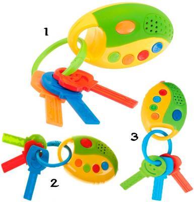 Интерактивная игрушка 1Toy Автоключики от 1 года свет, звук, асссортимент автомобильный брелок fs
