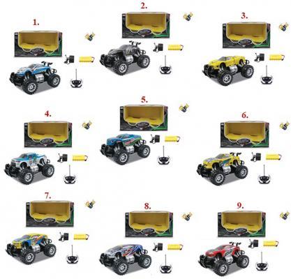 Машинка на радиоуправлении 1toy Внедорожник пластик от 3 лет цвет в ассортименте 1:14, движ. во всех направлениях, курковый пульт, с аккумулятором машинка на радиоуправлении 1toy раллийная пластик металл сине черный