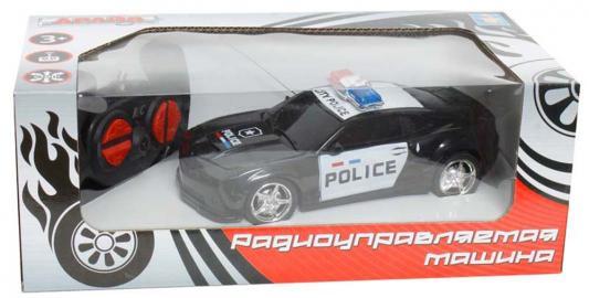 Машинка на радиоуправлении 1toy Chevrolet Camaro - Полиция пластик от 3 лет черно-белый Т59142 машинка на радиоуправлении 1toy раллийная пластик металл сине черный