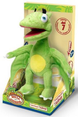 """Мягкая игрушка 1toy """"Поезд динозавров"""" - Тайни плюш зеленый 18 см звук"""