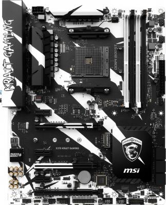 Материнская плата MSI X370 KRAIT GAMING Socket AM4 AMD X370 4xDDR4 3xPCI-E 16x 3xPCI-E 1x 6 ATX Retail brand new summer black pink beige women nude pumps ladies elegant evening shoes stiletto high heel el23 plus big size 32 47 10
