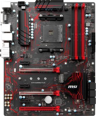 Мат. плата для ПК MSI X370 GAMING PLUS Socket AM4 AMD X370 4xDDR4 3xPCI-E 16x 3xPCI-E 1x 6xSATAIII ATX Retail материнская плата msi z270 mpower gaming titanium socket 1151 z270 4xddr4 3xpci e 16x 3xpci e 1x 6xsataiii atx retail