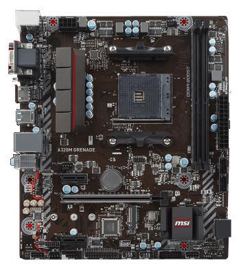 все цены на  Мат. плата для ПК MSI A320M GRENADE Socket AM4 AMD A320 2xDDR4 1xPCI-E 16x 2xPCI-E 1x 4xSATAIII mATX Retail  онлайн