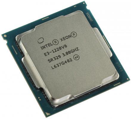 Процессор Intel Xeon E3-1220v6 3.0GHz 8Mb LGA1151 OEM процессор intel xeon e3 1220 v2