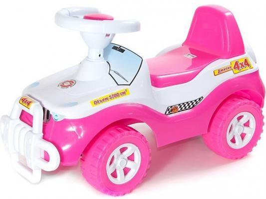 Каталка-машинка R-Toys Джипик ОР105к розовый от 8 месяцев пластик