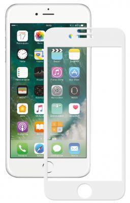 Защитное стекло 3D Deppa 62038 для iPhone 7 Plus 0.3 мм белый защитное стекло deppa 3d для apple iphone 7 plus 8 plus с рамкой 0 3 мм черный
