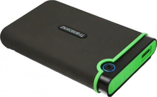 """Внешний жесткий диск 2.5"""" USB2.0 2 Tb Transcend StoreJet 25M2 TS2TSJ25M3E черный/зеленый"""