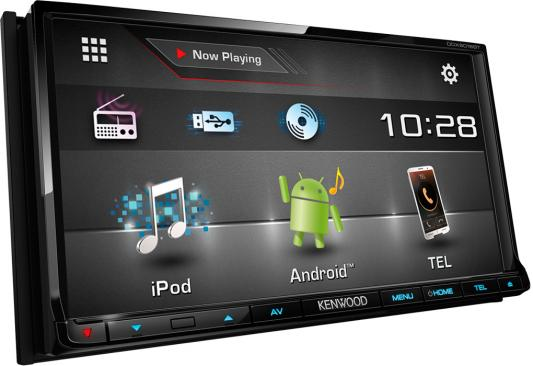 Автомагнитола Kenwood DDX-6016BTR 7 USB MP3 DVD CD FM RDS 2DIN 4x40Вт черный автомагнитола kenwood kmm 103gy usb mp3 fm 1din 4х50вт черный