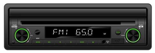 "Автомагнитола Supra SWM-757NV 7"" USB MP3 CD DVD FM RDS SD 1DIN 4x50 пульт ДУ черный"