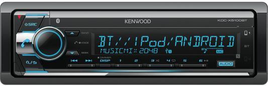 Автомагнитола Kenwood KDC-X5100BT USB MP3 CD FM 1DIN 4х50Вт черный