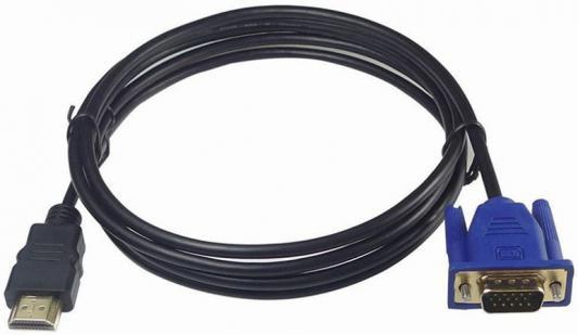 Кабель соединительный HDMI - VGA 1.8м VCOM Telecom TA670-1.8M кабель hdmi vcom cg525dr 1 8m cg525dr 1 8m