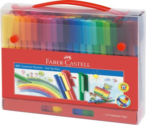 Набор фломастеров Faber-Castell Connector 60 шт разноцветный 155560 faber orizzonte eg8 x a 60 active