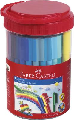 Набор фломастеров Faber-Castell Connector 50 шт разноцветный 155550