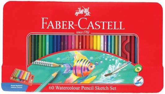 Набор цветных карандашей Faber-Castell Рыбки 60 шт акварельные 115964 набор цветных карандашей faber castell