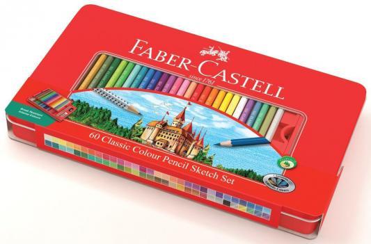 Набор цветных карандашей Faber-Castell Замок 115894 60 шт набор цветных карандашей faber castell