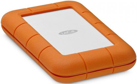 "цена Внешний жесткий диск 2.5"" Thunderbolt USB C 4Tb Lacie Rugged STFS4000800 оранжевый"
