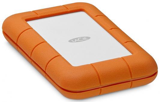 Внешний жесткий диск 2.5 Thunderbolt USB C 2Tb Lacie Rugged STFS2000800 оранжевый lacie rugged mini 2tb внешний жесткий диск