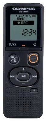 Цифровой диктофон Olympus VN-541PC 4Гб черный + чехол CS131 диктофон olympus ls 12