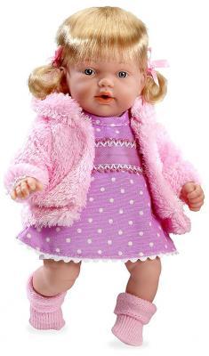 Купить Кукла Arias Elegance - Hanne в вязаной курточке и платье (смеется), нежная роза 28 см смеющаяся, винил, текстиль, Классические куклы и пупсы