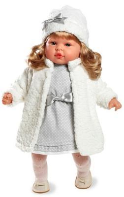 Кукла Arias Elegance в пальто и шапочке 45 см смеющаяся arias кукла клоун 38 см т59774