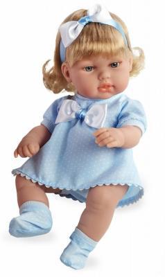 Кукла Arias блондинка Elegance в голубом платье с бантом 33 см куклы и одежда для кукол arias кукла elegance 33 см
