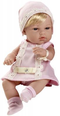 Пупс Arias блондинка в розовом платьице со стразами Swarowski 33 см Т59285 arias пупс в костюме со стразами swarowski